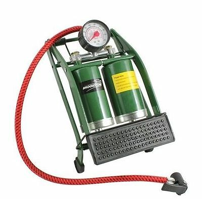 SPECIAL OFFER LIMITED TIME ONLY Brookstone Heavy Duty Double Barrel Foot Pump