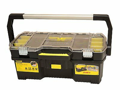 Stanley 24-inch Tote With Tray Organiser Hand Toolbox Storage