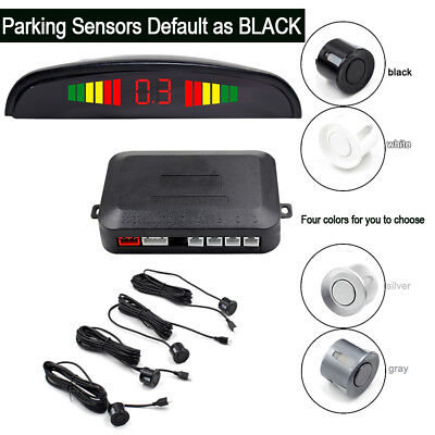 Car Sensor Backup Reverse Rear View Radar Alarm System Black Sliver  White Gray
