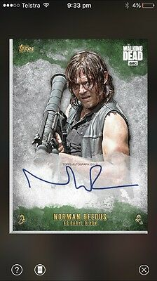 Topps The Walking Dead Daryl Dixon Green Signature. 1:5000 Odds.