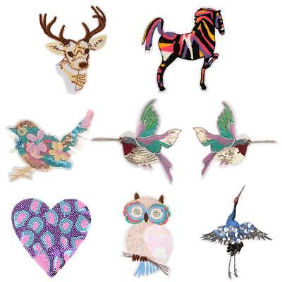 Sequins Clothing Sewing Embroidery Animal Patch Sew on Applique for Crafts