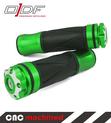 """Motorcycle Hand Grips Handle Bar Grips (1"""" 7/8"""") (24/25mm) Xtreme, green"""