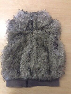 H&M Fur Gilet Size 12-13 Years
