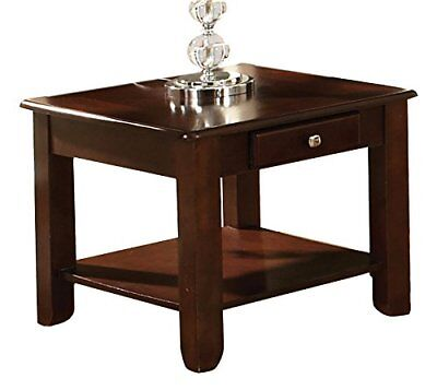 Steve Silver Company Nelson Collection End Table In Cherry Finish, NL300EC  New