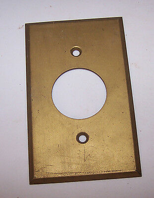 Vintage Brass Cover - Outlet Switch Box - GE General Electric Logo on Back