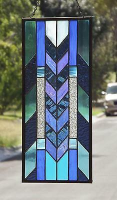 "• Prairie Romance • Stained Glass Window Panel • COA •20 1/2""- 9 1/2"""