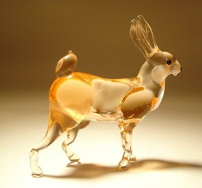 "Blown Glass Figurine ""Murano"" Art Animal Hare BUNNY Rabbit"