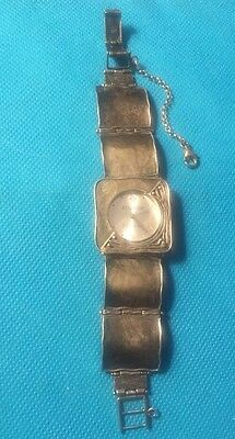 Silpada Sterling Hammered Square Link Watch T1372 Retired