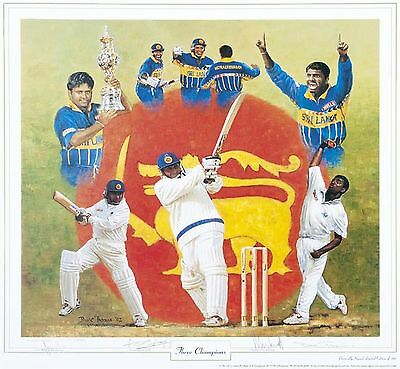 The Three Champions ~ Clearance~ Hand Signed By All Three ~ Print By Dave Thomas