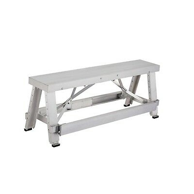 Pentagon Tool Professional Aluminum Drywall Bench Adjustable Lift Step Workbench