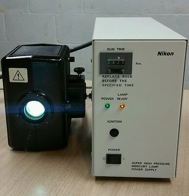 Nikon 100w Hg mercury power supply and lamphouse fluorescence microscope