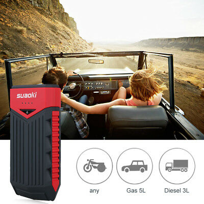 12000mAh Car Auto Jump Starter Booster Batteria Charger Emergenza LED Flashlight