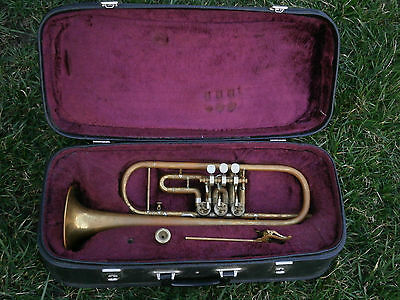 Old Musical Instrumet Trombone Tube Amati Kraslice With Moutpiece