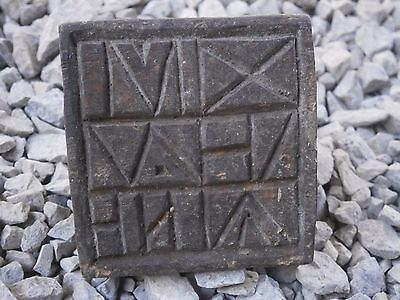Old Rare Antique Wooden Ritual Bread Stamp Prosphora With Patina