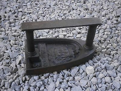 Old Rare Antique Iron Sadiron With Shtamps From Wrought Iron
