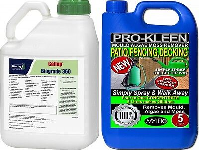 GALLUP 360 VERY STRONG PROFESSIONAL GLYPHOSATE WEEDKILLER HERBICIDE 1 x 5 LITRE