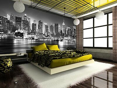 Wall Mural Photo Wallpaper NEW YORK BLACK&WHITE MANHATTAN Home Decor Art 355x236
