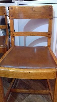 2 x Vintage 1950 / 60's, Oak dining chairs.   Could be earlier date