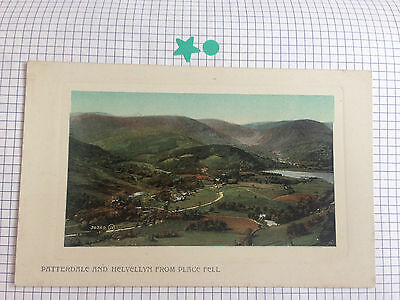 Patterdale & Helvellyn From Place Fell Valentine's Series Vintage Postcard