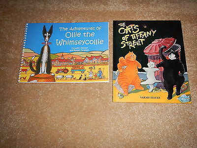 2 books,The cats of tiffany street and the whimsy collie by s hayes,l simpson