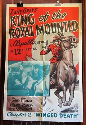1940 KING OF THE ROYAL MOUNTED Chapter 2 ONE-SHEET Movie Poster