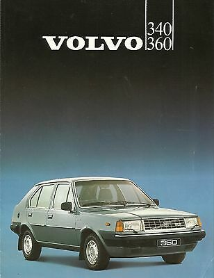Volvo 300 Series Sales Brochure - 1983, 340, DL/GL, 360 GLS/GLT