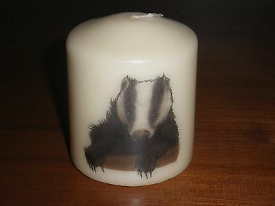 Candle Picture Badger Can Be Personalised Birthday Memorial Retire Friend New
