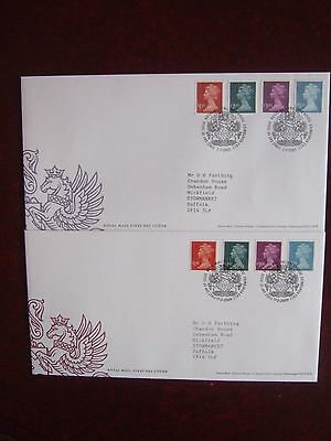 GREAT BRITAIN 2003 & 2009 MACHIN 4v x HIGH VALS TO £5 PAIR OF FIRST DAY COVERS