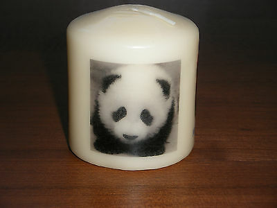 Candle Picture Panda Bear Can be Personalised Birthday Friends Mum Dad Love New