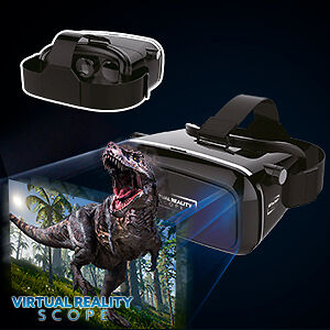 Universal 3D Virtual Reality Scope VR HDMI Glasses Headset Helmet Andriod,iOS