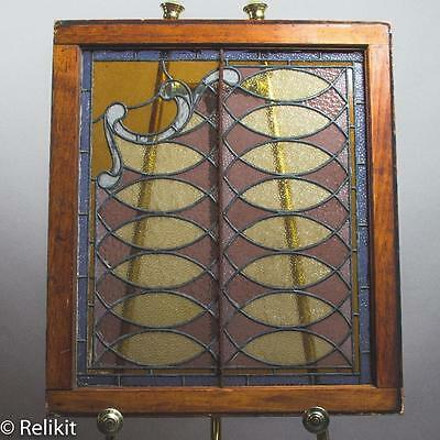 Antique Arts and Crafts Period Leaded Glass Window Panel Wonderful Lead Work!