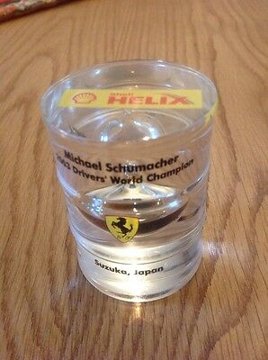 Michael Schumacher 2003 Drivers World Champion Oil Filled Paperweight. 7 Of 60