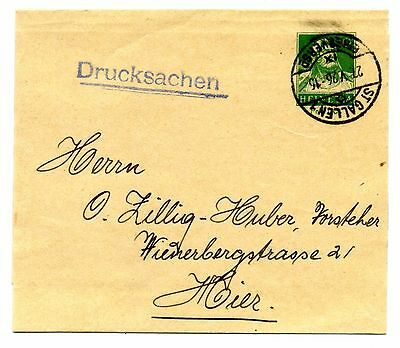 1926 5 Cent Green newspaper wrapper St.Galen CDS to Vienna