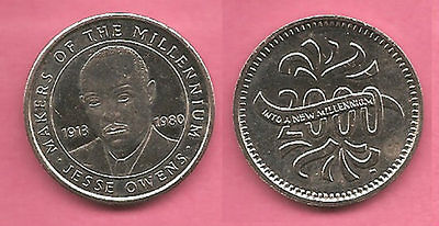 Jesse Owens Sainsburys Makers of the Millennium coin / token / medal.