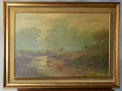 David Dipnall (20th century) Framed Oil Painting Print 'In the meadow' [PL2724]