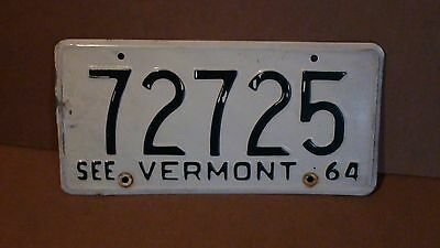 """1964 Vermont """"See Vermont"""" License Plate  (72725)"""
