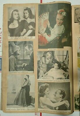 "Vintage ""The Whopper Scrapbook"" With Hollywood Movie Stars 30's,40's,50's"
