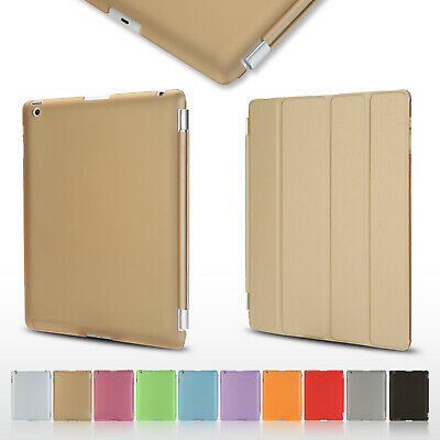 GENUINE Magnetic Smart Leather Super Slim Case Cover For Apple iPad 2 3 iPad 4