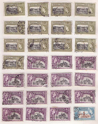 TRINIDAD & TOBAGO.QE11.1953 - 1954. A selection from issues, mostly F/U ( E102)