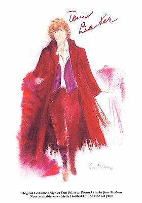 Tom Baker Signed 4th Doctor BBC Official Doctor Who Promo Autograph Card