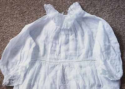 Vintage Child's Dress, Very Pretty with Lace and Dots