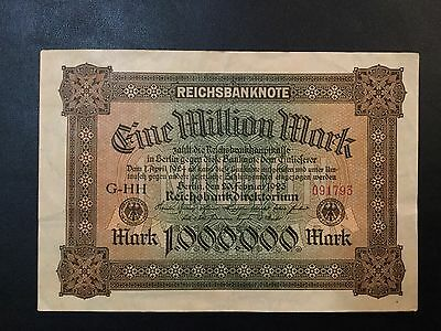 1923 Germany Paper Money - 1,000,000 Mark Banknote !
