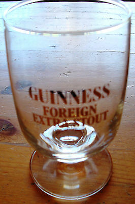 Guinness Foreign Extra Stout Goblet Style Glass