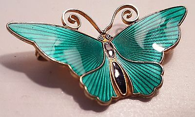 Butterfly Pin by David Andersen Norway Sterling Silver AN3353