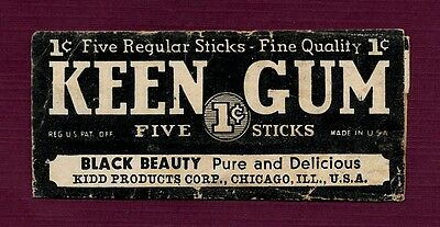 """Very Rare - Keen """"Black Beauty"""" Chewing Gum Wrapper"""