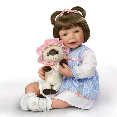 "Ashton Drake - ""Emma And Baby Boots"" Lifelike Child Doll by Waltraud Hanl"