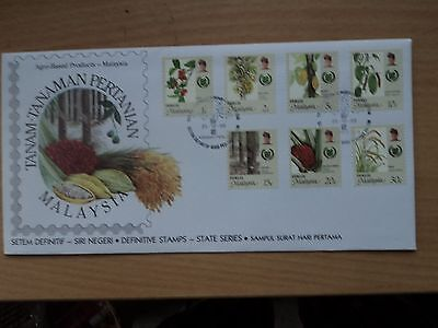 Malaysia Perlis definitive 1986 25 October Agro-Based Products FDC