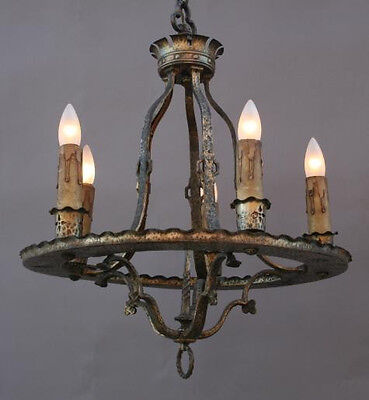 1920s Chandelier Light Antique Spanish Revival Mediterranean Vintage (1815)