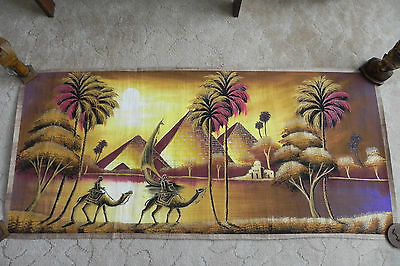 """Egyptian Papyrus HandMade Painting size 100 x 200 cm 40""""x80"""" Inches EGYPT"""