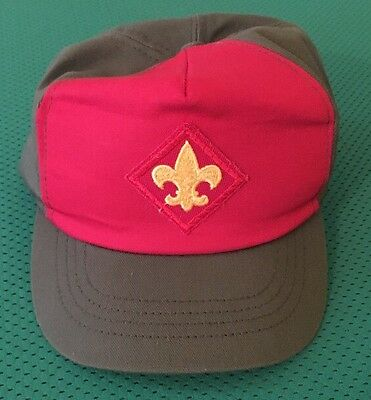 VINTAGE BSA BOY SCOUTS SNAPBACK HAT CAP MADE IN AMERICA Adjustable